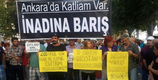 Datça'da da Ankara katliamı protesto edildi