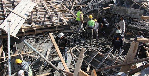 Hastane inşaatında çatı çöktü, iki işçi öldü, ikisi enkaz altında