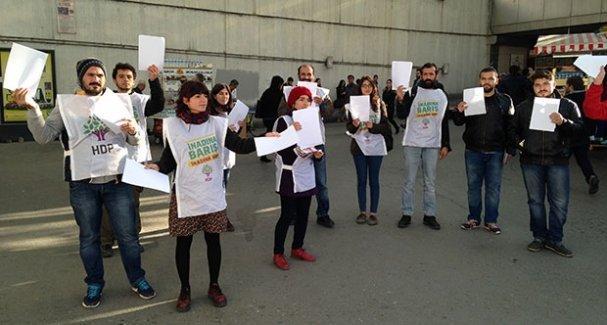 HDP'den protesto için 'boş kağıt'la seçim çalışması