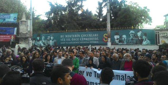 HDP, gözaltıları Galatasaray Meydanı'nda protesto etti