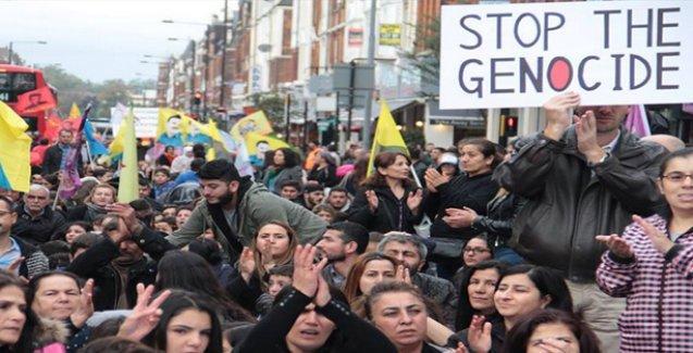 İngiltere ve Avusturya'da Ankara katliamını protesto eden halk barış istedi