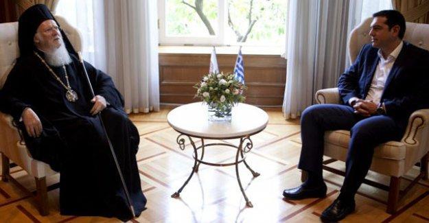 Patrik Bartholomeos'tan Tsipras'a ziyaret