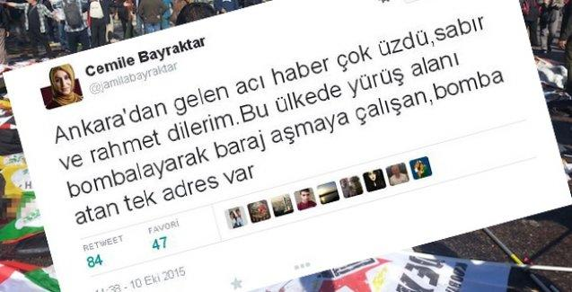 Yeni Şafak yazarının HDP'yi hedef alan 'patlama' tweet'ine tepki