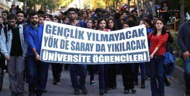 Ankara Üniversitesi'nde YÖK protestosu