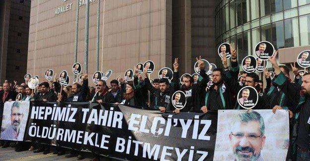 Avukatlar  Tahir Elçi'nin katledilmesini  protesto etti