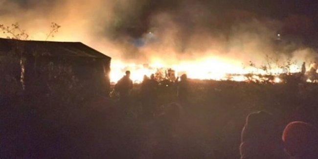 Fransa'da mülteci kampı ateşe verildi