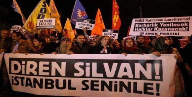Galatasaray Meydanı'nda Silvan ve Paris için eylem yapıldı
