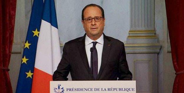 Hollande: IŞİD'in saldırıları savaş nedeni