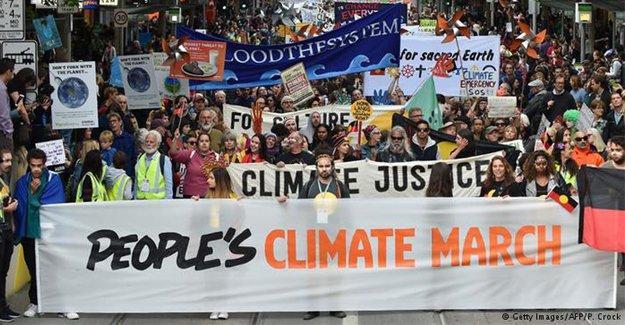 İklim değişikliğine karşı yürüdüler