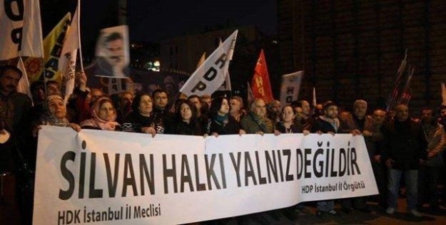 İstanbul'da 'Silvan halkı yalnız değildir' eylemi
