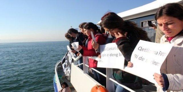 İzmir'de Silvan için vapur işgal eden kadınlar serbest bırakıldı