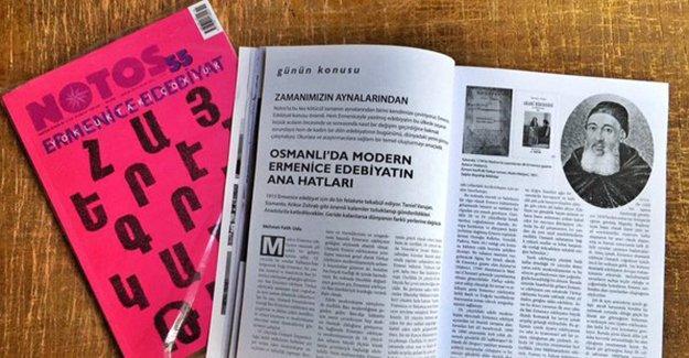 Notos, bu ay 'Ermenice Edebiyat' dosyasıyla çıktı