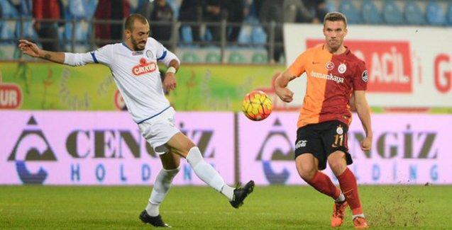 Rize'de gol düellosu: Galatasaray eli boş döndü