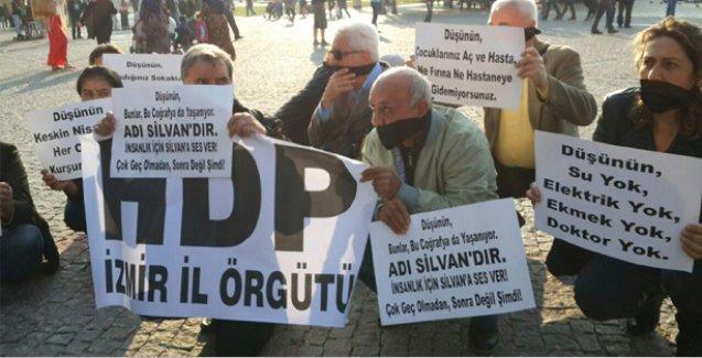 Silvan için eylem yapan HDP İzmir il yöneticileri gözaltına alındı