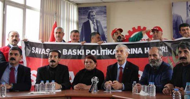 DİSK, KESK ve TMMOB 'Savaşa Karşı Barış İçin' greve gidiyor