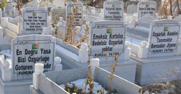 Kaymakam mezar taşlarına taktı: Örgüt propagandası, silin ya da değiştirin!