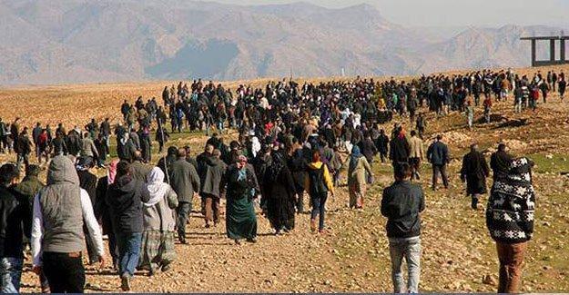 İdil'den binlerce kişi Cizre'ye yürüyor
