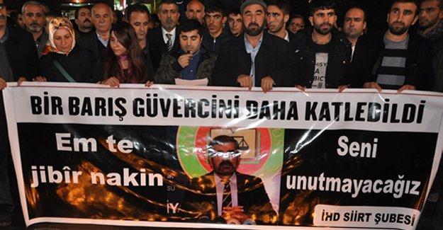 Siirt'te Tahir Elçi'ye 'mücadeleni sürdüreceğiz' sözü