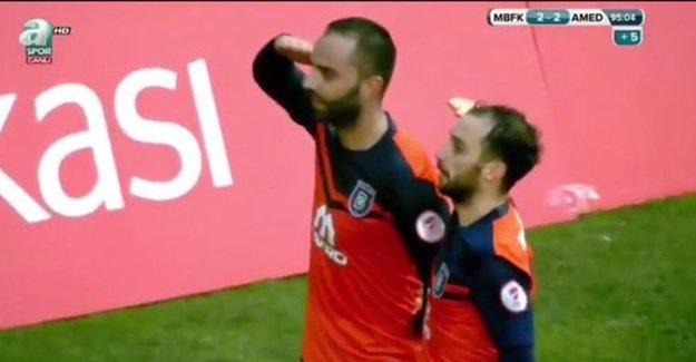 Amedspor'a gol atınca asker selamı verdi!