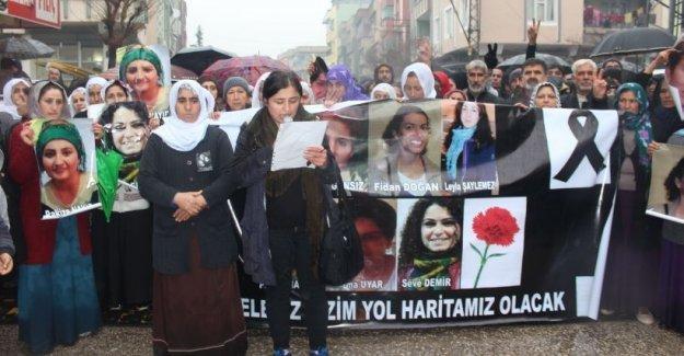 Antep'te, Silopi'de katledilen kadınlar için eylem