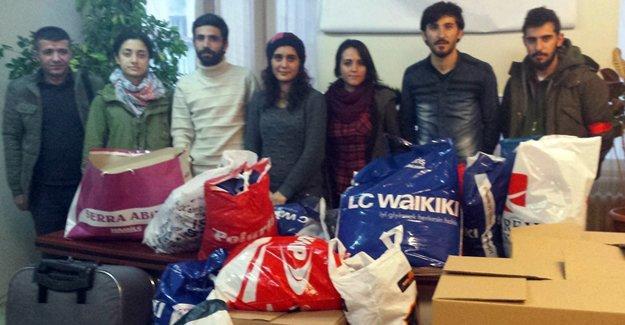Arel Üniversitesi'nde Kobani için dayanışma kampanyası