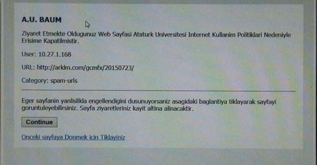 Atatürk Üniversitesi'nin basın özgürlüğüyle imtihanı: Evrensel sitesi engellendi