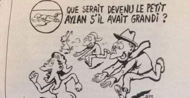 Charlie Hebdo'nun Alan Kurdi karikatürüne tepki