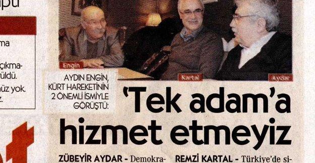 Cumhuriyet Zübeyir Aydar ve Remzi Kartal'la görüştü