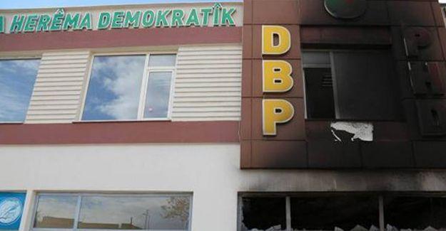 DBP Çınar İlçe binası ateşe verildi