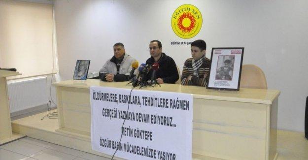 Diyarbakır'daki meslektaşları Metin Göktepe'yi andı