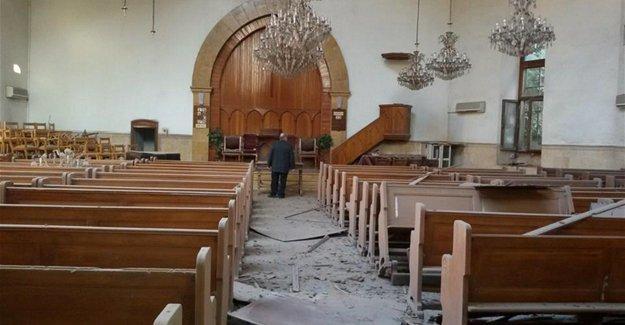 Halep'teki Ermeni kilisesi roket saldırısından zarar gördü