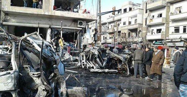 Humus'ta çifte saldırı: Çok sayıda ölü ve yaralı var