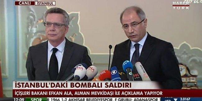 İçişleri Bakanı Ala: Sultanahmet saldırısıyla ilgili 1 kişi gözaltına alındı