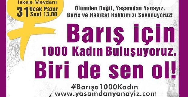 Kadınlar barış için Kadıköy'de