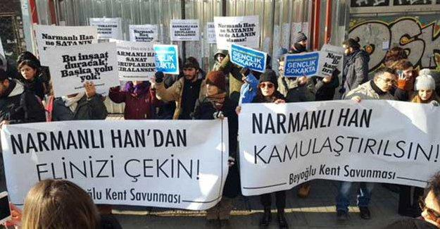 Kent Savunucuları'ndan Narmanlı Han için eylem