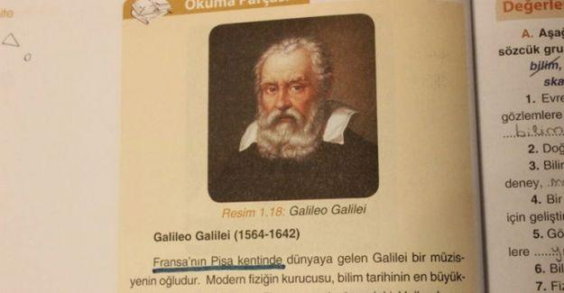 Milli Eğitim'in ücretsiz kitaplarına göre Avusturya bir kıta, Galilei ise Fransız!