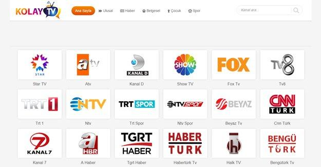 Televizyon izlemenin kolay adresi www.kolaytv.com