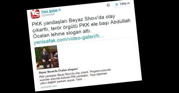 Yeni Şafak'tan Beyaz Show'a 'Biji Serok Apo' montajı