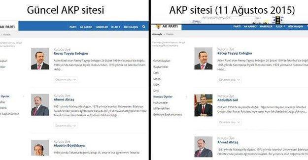 AKP, kurucular listesinden Gül'ün adı silindi