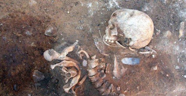 Almanya'daki 8500 yıllık mezarlıkta dikey gömülmüş iskelet bulundu