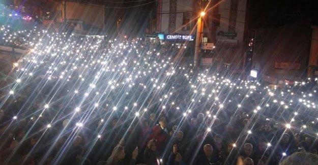 Artvin'de binler Cerattepe için yürüdü