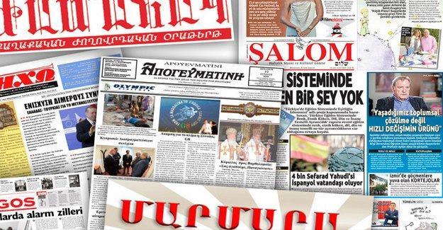 Azınlık gazeteleri devletten mali destek bekliyor
