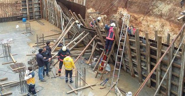 Bakırköy'de bina zemini çöktü: Enkaz altındaki işçi kurtarıldı