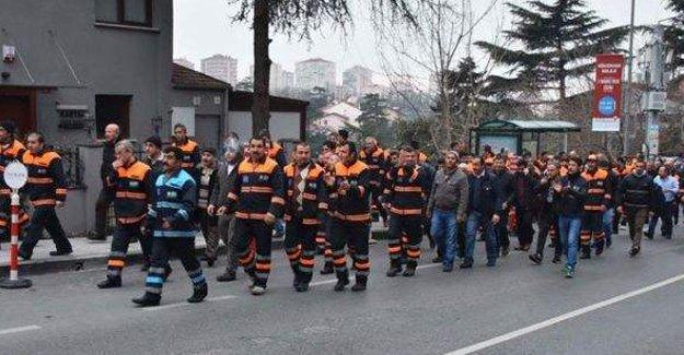 Beşiktaş Belediyesi temizlik işçileri eylemde