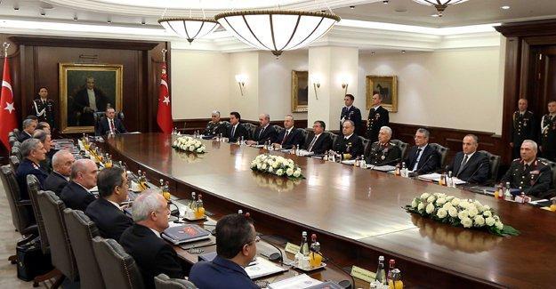 Erdoğan'dan güvenlik toplantısı