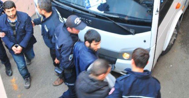 Kocaeli'de 9 kişi tutuklandı