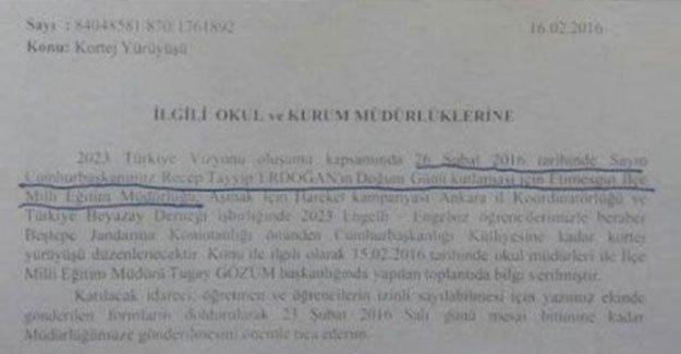 """Öğretmen ve öğrencilere """"Erdoğan'ın doğum günü"""" izni verildi"""