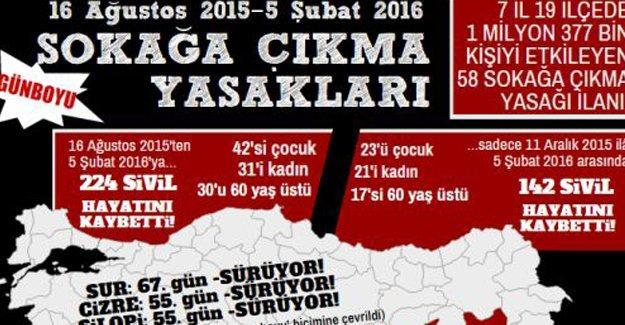 TİHV: Sokağa çıkma yasaklarında 224 sivil öldürüldü