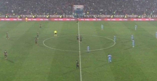 Trabzonspor'dan 30 saniyelik protesto gösterisi