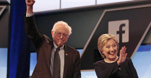 ABD'de Sosyalist aday Sanders, Clinton'a fark attı